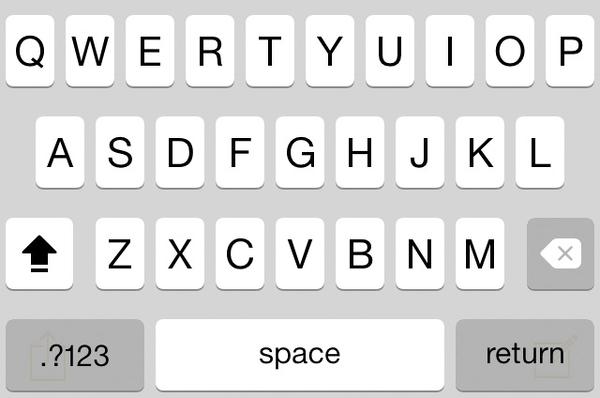 iOS 7.1 improves keyboard contrast