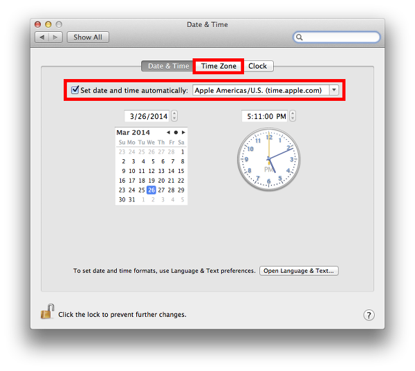 Changes to OS X date and time settings can restore connectivity to the iTunes Store.