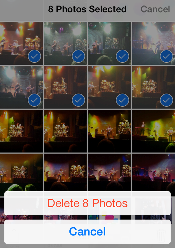 select photos to delete from iPhone