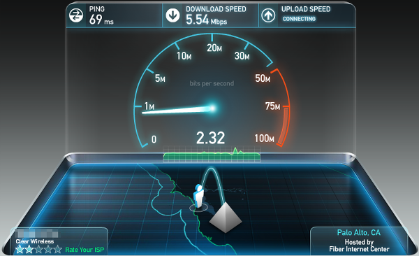 test your Internet connection speed with Ookla Speedtest