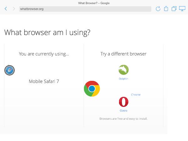 AirWeb browser info