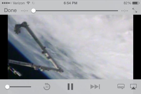 Live HD video stream from International Space Station on iPhone