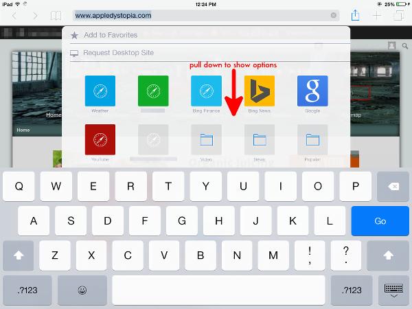 view desktop version of site in Safari for iOS 8