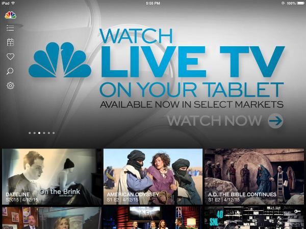 NBC App for iPad