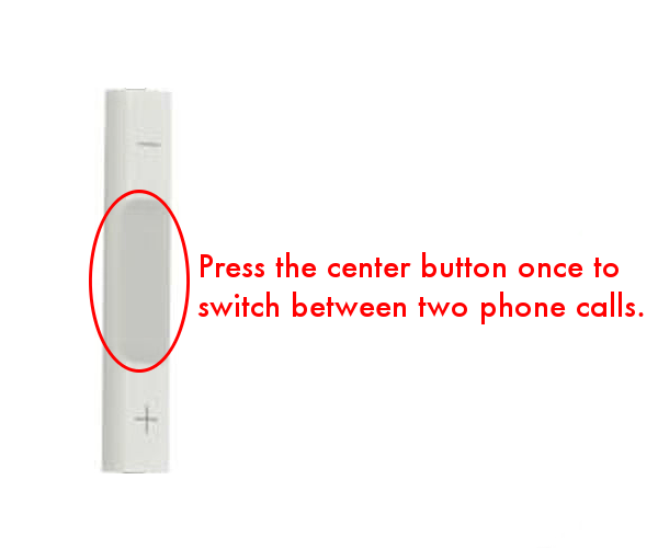 Switch between phone calls using iPhone headphone buttons