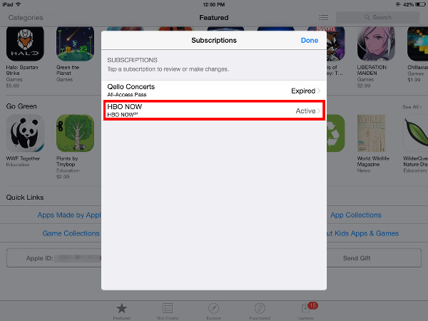 iTunes Subscriptions on iOS
