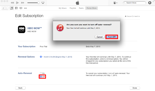 Turn Off Auto-Renewals on iTunes for OS X