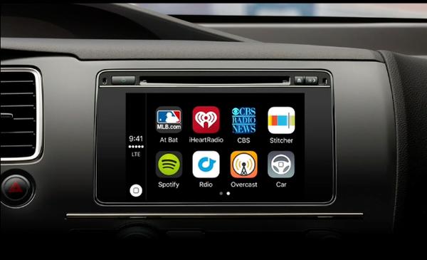 standard CarPlay screen