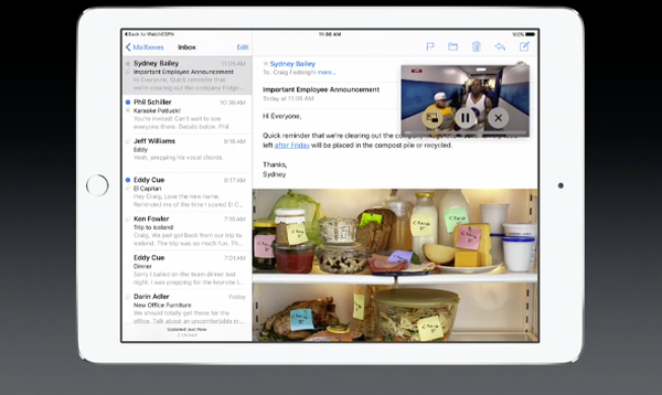 iOS 9 PiP multitasking