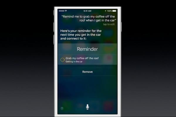 Use Siri to create Reminders