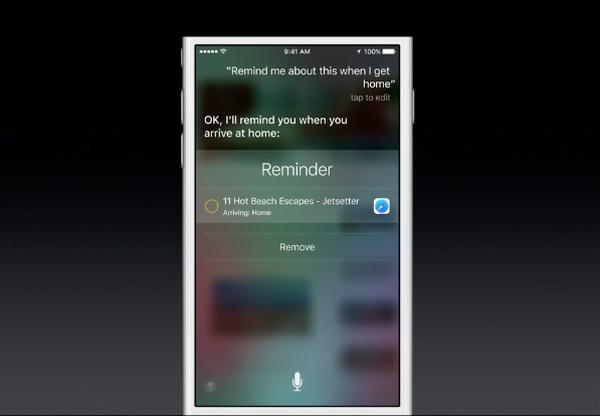 Siri can operate contextually