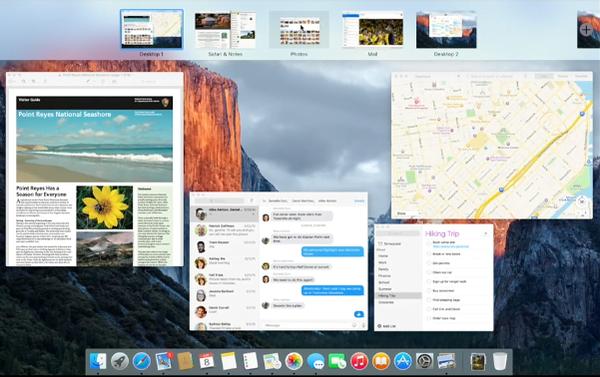 OS X 10.11 El Capitan drag app to Mission Control toolbar for full screen