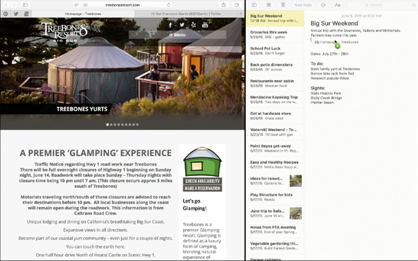 OS X 10.11 El Capitan drag link from Safari to Notes