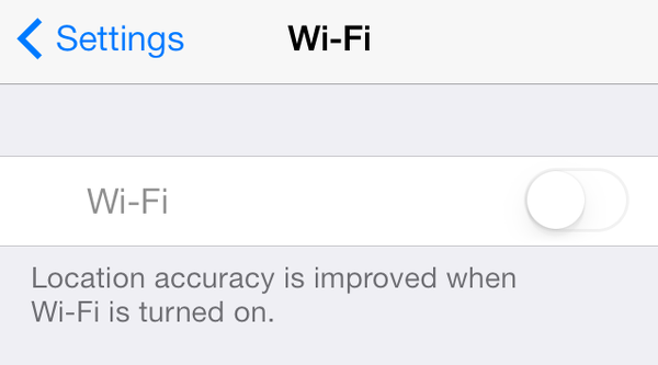grayed out iPhone Wi-Fi settings