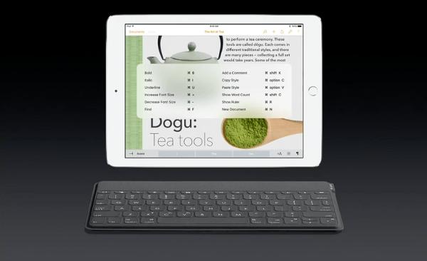 iOS 9 iPad keyboard shortcuts