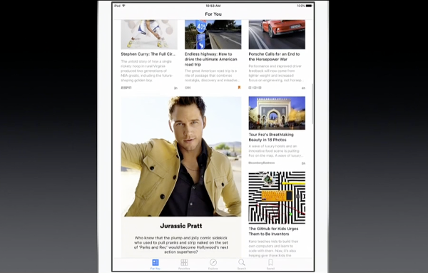 iOS 9 News For You feed