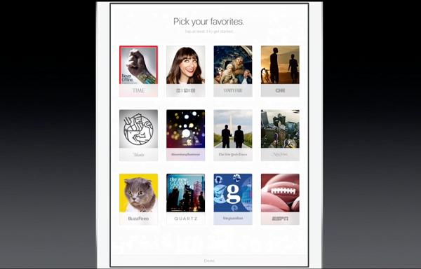 iOS 9 News pick favorites