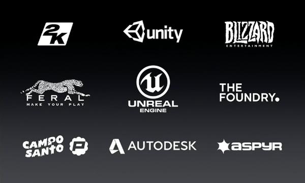 OS X 10.11 El Capitan companies supporting Metal