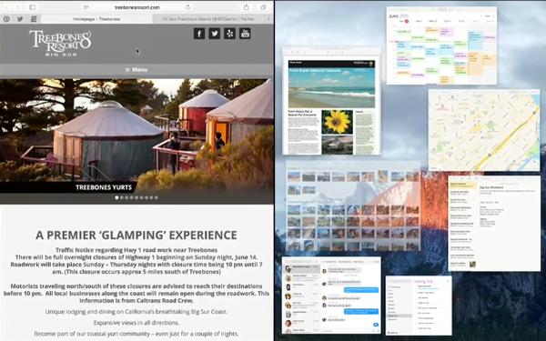 OS X 10.11 El Capitan pick app for split screen