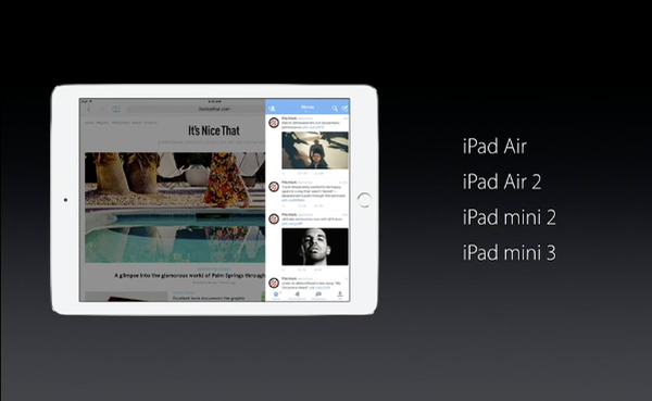 iPads supporting Slide Over multitasking
