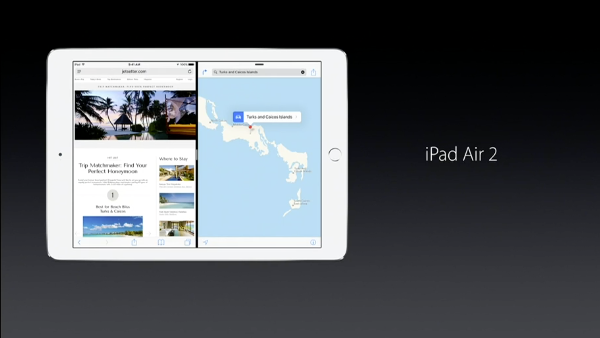 iPads supporting Split View multitasking