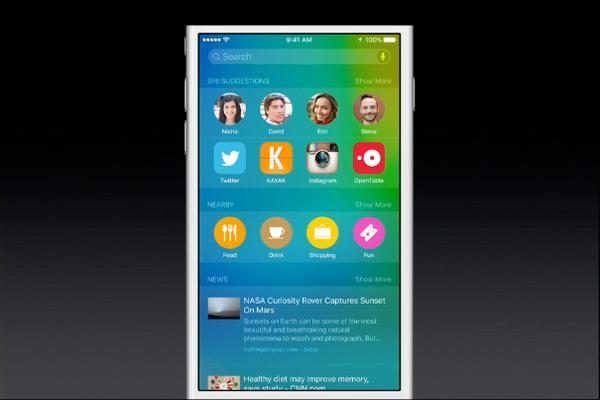 iOS 9 Spotlight