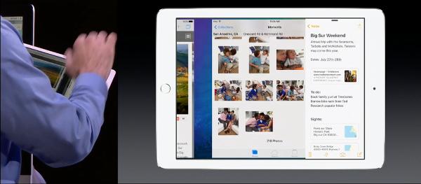 iOS 9 iPad switch main multitasking app with 4 finger swipe