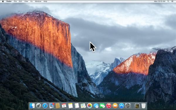 OS X 10.11 El Capitan wiggle cursor to enlarge