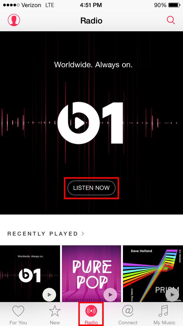 Play Beats 1 Radio