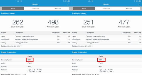 iOS 8.4.1 Is Slower than 8.4