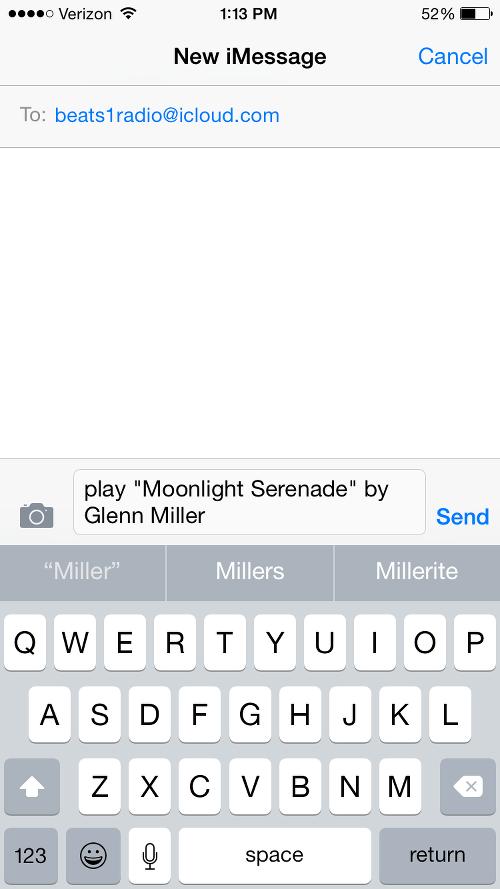 Request Glenn Miller on Beats 1