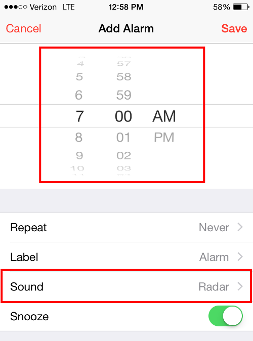Set Alarm and Tap Sound to Add Apple Music