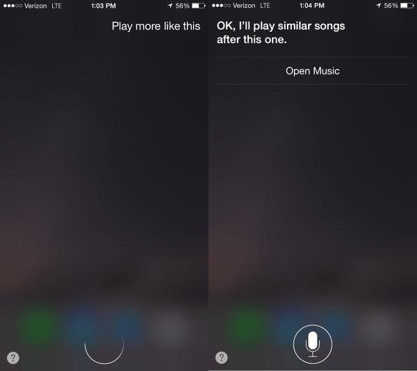 Ask Siri to Play More Like This