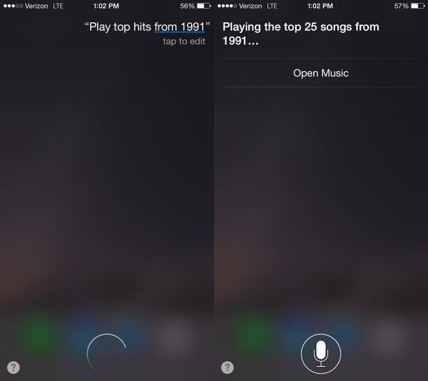 Ask Siri to Play Top Hits