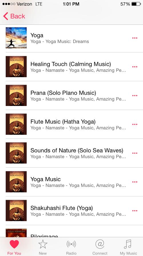 Yoga Tracks on Apple Music