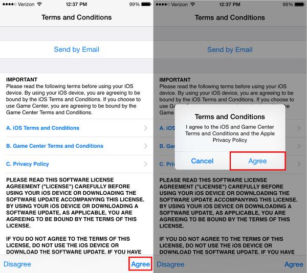 iOS 8.4.1 Legal Agreements