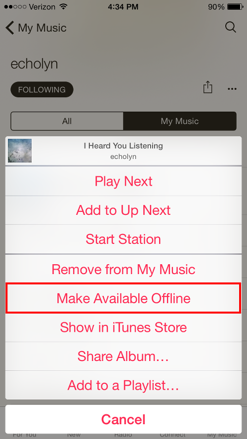 Make Music Available Offline