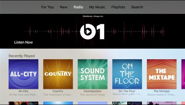 Apple Music for Apple TV 4