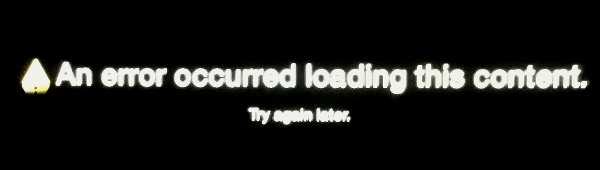 An Error Occurred Loading This Content