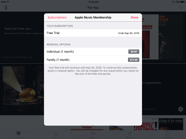 how to cancel apple music itunes