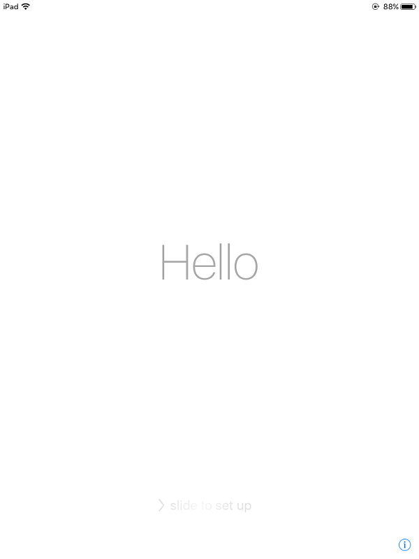 iOS 9.1 Hello Screen