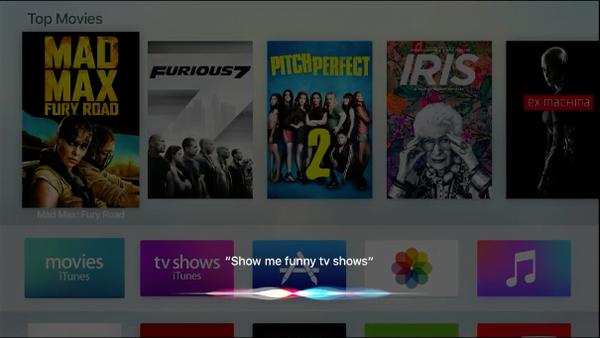 Siri on Apple TV 4