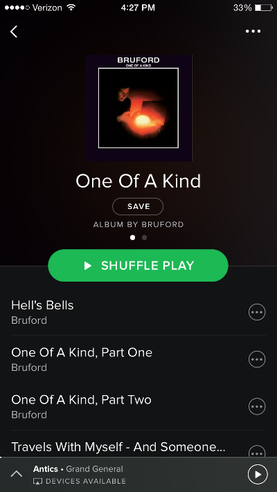 Bruford One of a Kind on Spotify