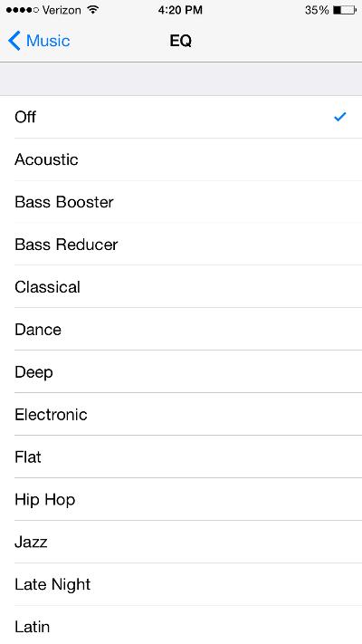 Apple Music EQ
