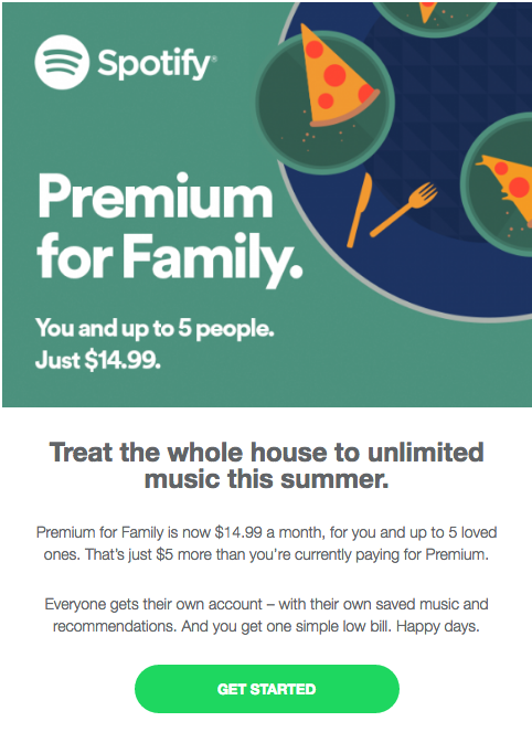 New Spotify Family Plan