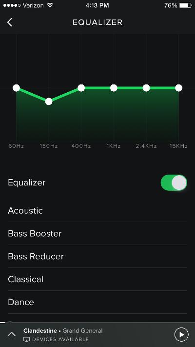 Spotify EQ
