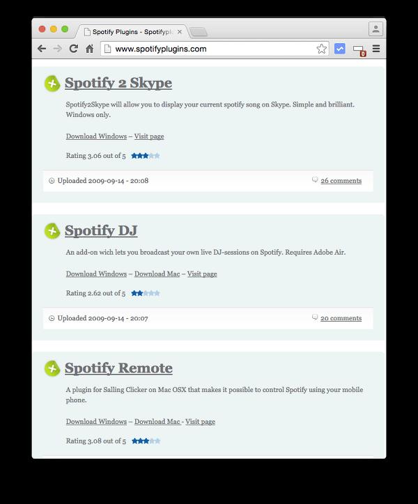 Spotify Plugins