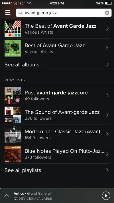 Spotify Search by Genre