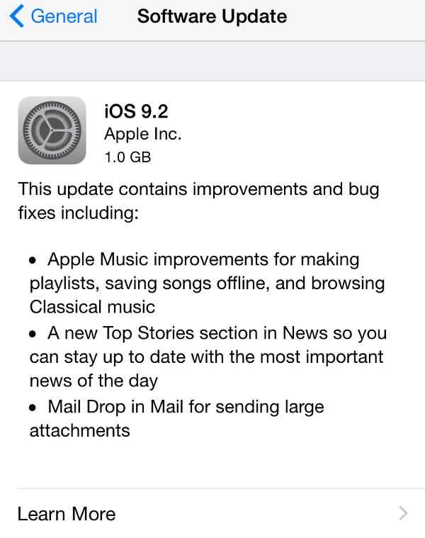 iOS 9.2: Worth Upgrading?