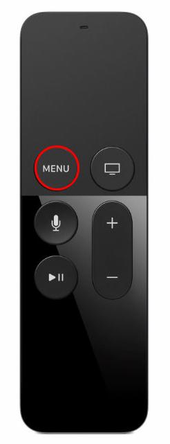 Apple TV 4 Siri Remote Menu Button